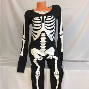 Victoria's Secret PINK SKELETON ONESIE THERMAL